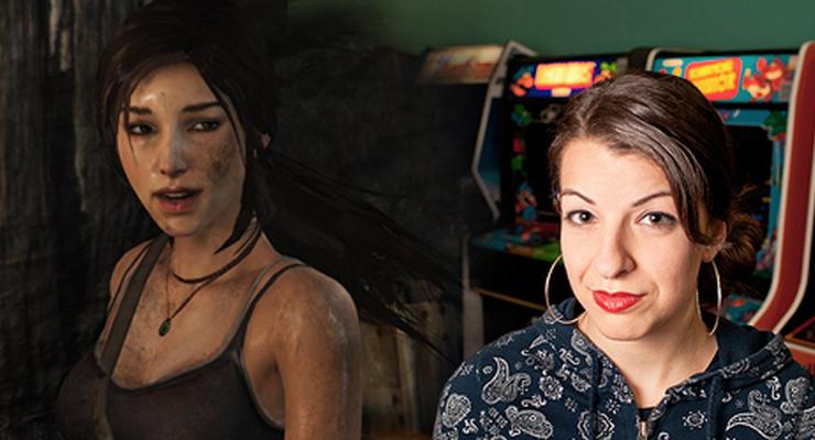 Lara Croft & Anita Sarkeesian (© tombraider.com / Anita Sarkeesian)