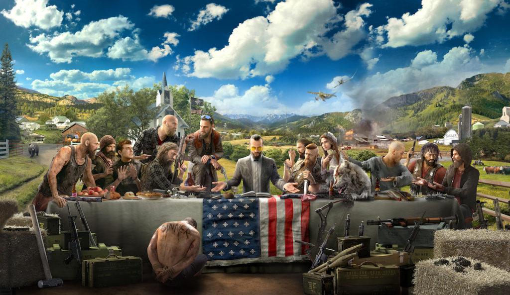 Eine Version des Bildes vom letzten Abendmahl mit den Charakteren von Far Cry 5